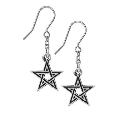 Alchemy England 1977 Black Star Earrings