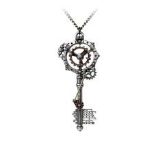 Alchemy England 1977 Septagramic Coercion Gearwheel Key Pendant