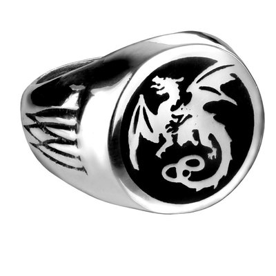 Alchemy England 1977 Wyverex Dragon Signet Ring