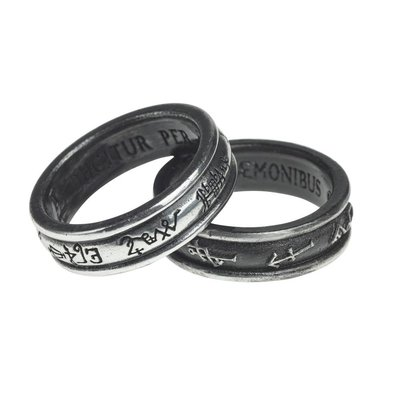 Alchemy England 1977 Demon Black & Angel White Ring