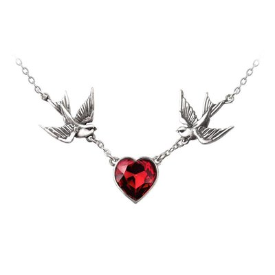 Alchemy England 1977 Swallow Heart Necklace