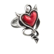 Alchemy England 1977 Devil Heart Ring