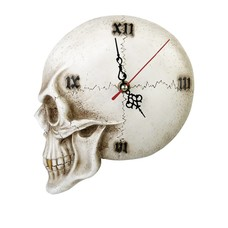 Alchemy England 1977 Skull Wall Clock