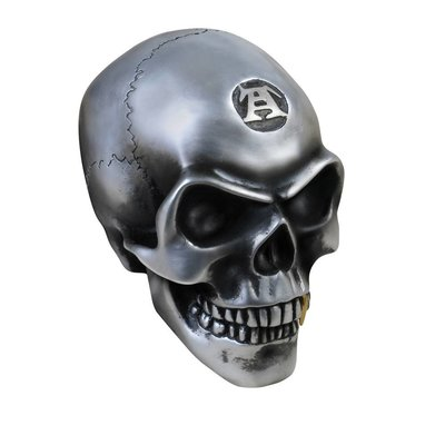 Alchemy England 1977 Large Metalized Colored Skull