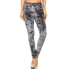 Yelete Charcoal Icy Velvet Leggings