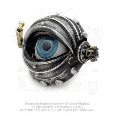 Alchemy England 1977 Automaton's Eye Ring - T (9.5)