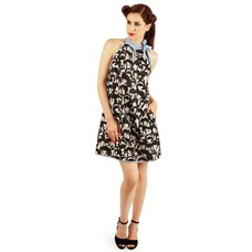 Smak Parlour A-Line Dress in Scuba Fabric, Hairstyles Print