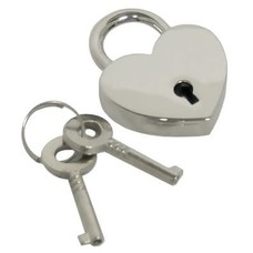Kookie Chrome Finish Heart Shaped Lock