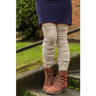 Sock Dreams Marled Scrunchable Thigh High Socks