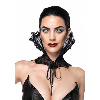Leg Avenue Lace Corset Collar, Black