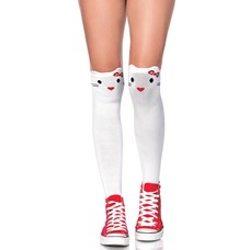 Leg Avenue Goodbye Kitty White Knee Highs