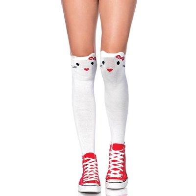 Leg Avenue Goodbye Kitty White Knee Highs