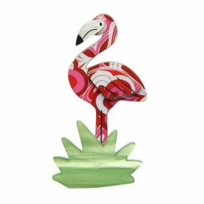 Erstwilder Flamboyant Flamingo Funk Brooch