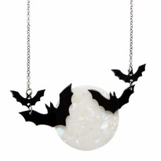 Erstwilder Trick Or Treat Necklace (Moon & Bats)