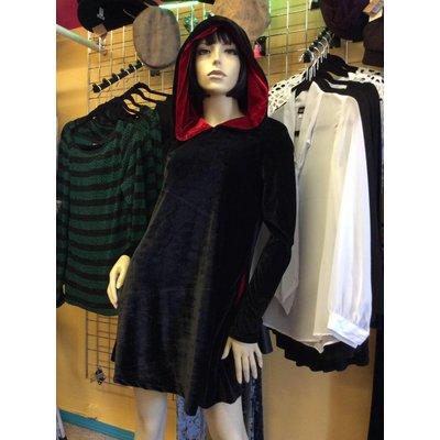 Folter Prophesy Velvet Hooded Dress