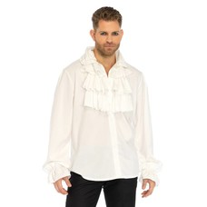 Leg Avenue Ruffle Front Men's Shirt, White