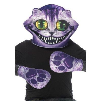 Leg Avenue 2 Pc Cheshire Cat Foam Mask & Paws