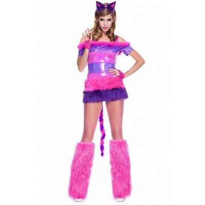 Music Legs Cheshire Kitten Dress & Ears Headband - S