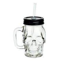 Alchemy England 1977 Glass Skull Drinking Jar