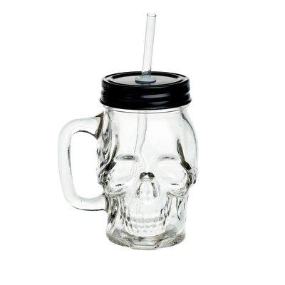 Alchemy England 1977 Glass Skull Drinking Jar