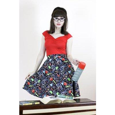 Retrolicious Science A-Line Skirt