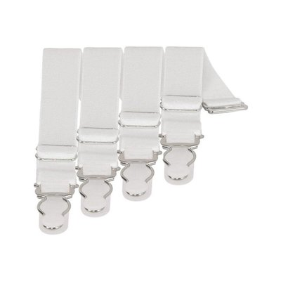 Vintage Goth Set of 4 Garter/Suspenders, White