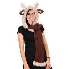 Elope Reindeer Knitted Hood/Scarf