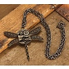 Elope Dragonfly Gears Necklace Antique