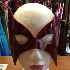 Kookie Leather Bat Mask Red Pat