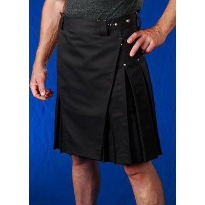 StumpTown Kilts Men's Black Kilts w/ Chrome Rivets