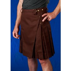 StumpTown Kilts Men's Brown Kilt w/ Antique Brass Rivets