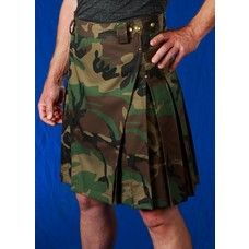 StumpTown Kilts Men's Camo Kilt w/ Antique Brass Rivets