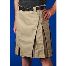 StumpTown Kilts Men's Khaki Kilt w/ Gun Metal Rivets
