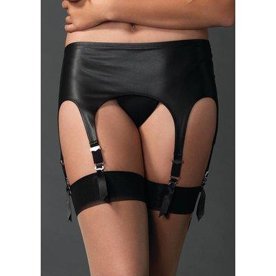 Leg Avenue Matte Rubber-Look Six Garter Belt