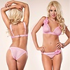 Leg Avenue Point D'Esprit 2 Pc Bra & Panty Set, Pink