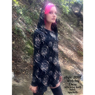Folter Witchy Print Hooded Dress S
