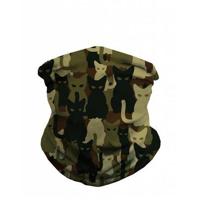 iHeartRaves Seamless Mask Bandana - One Size  Camo Cats