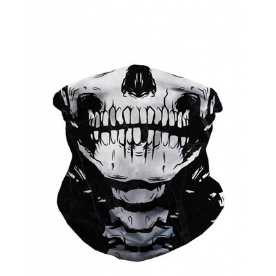 iHeartRaves Seamless Mask Bandana - One Size  Skeleton