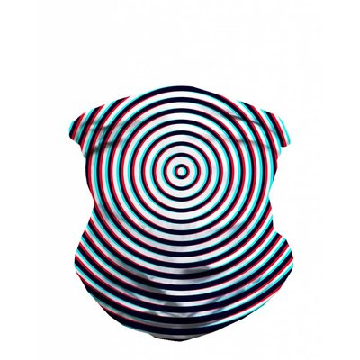 iHeartRaves Seamless Mask Bandana - One Size  Optical Illusion