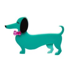 Erstwilder Spiffy The Sausage Dog Brooch