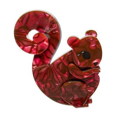 Erstwilder Saskia Squirrel Brooch
