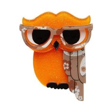 Erstwilder Waldo The Wacky Wise Owl Brooch