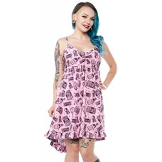 Sourpuss Poison Hi-Lo Dolly Dress