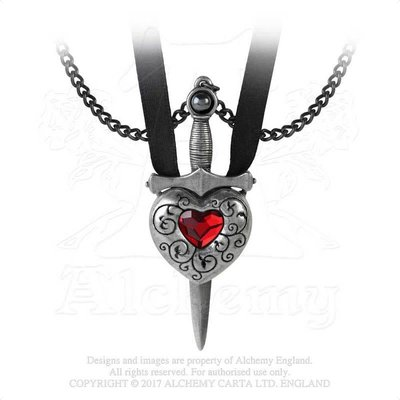 Alchemy England 1977 Love is King Necklace - Red