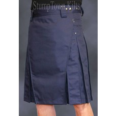 StumpTown Kilts Men's Navy Blue Kilt w/Gunmetal Rivets