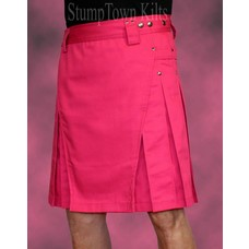 StumpTown Kilts Men's Pink Kilt w/Gunmetal Rivets