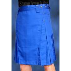 StumpTown Kilts Men's Royal Blue Kilt w/Gunmetal Rivets