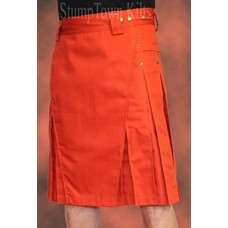 StumpTown Kilts Men's Rust Kilt w/Antique Brass Rivets