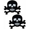 Pastease Skull: Black and White Skull & Crossbones Nipple Pasties