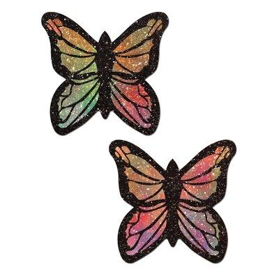 Pastease Monarch: Glitter Pastel Rainbow Butterfly Nipple Pasties